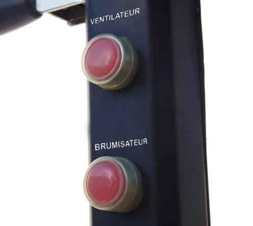 Bouton du ventilateur brumisateur 180cm
