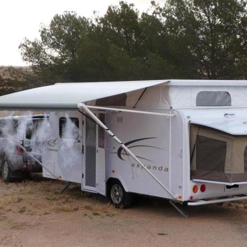 Brumisateur de terrasse mise en situation sur camping car