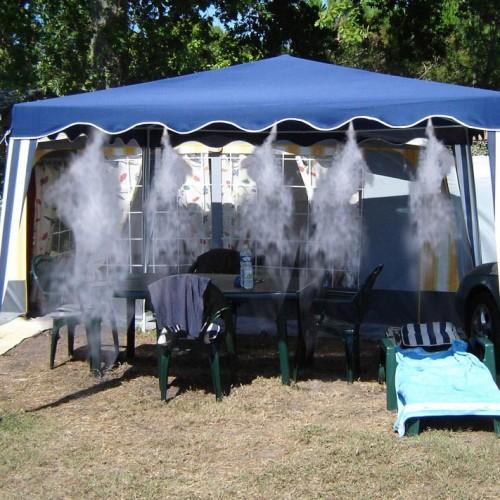 Brumisateur de terrasse mise en situation au camping