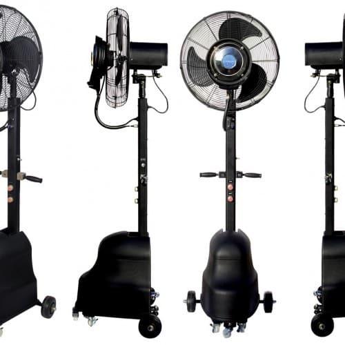 Ventilateur brumisateur 180cm face profil et trois-quart