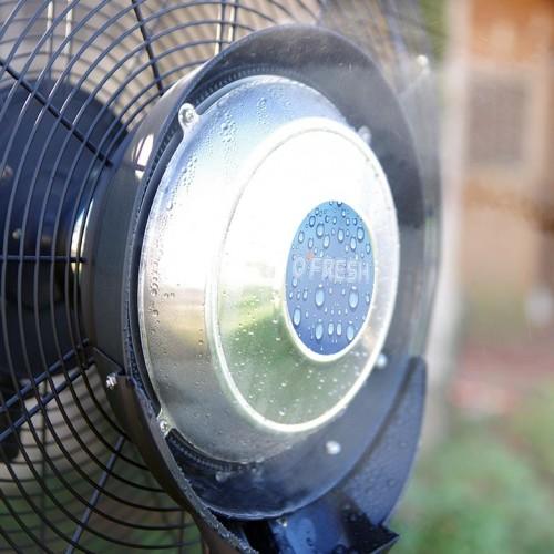 Ventilateur brumisateur en fonctionnement