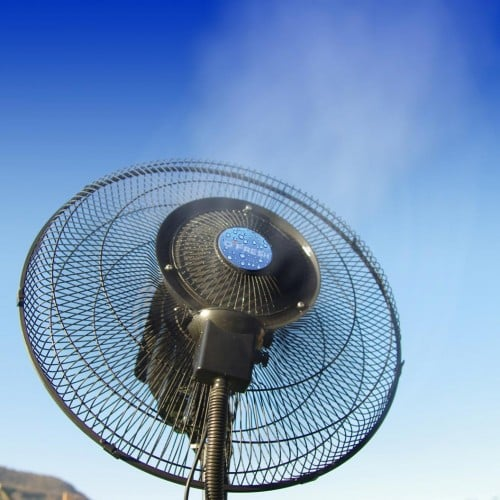 Ventilateur brumisateur 150cm mise en situation