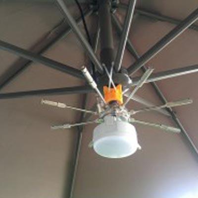 Kit 8 buses pour parasol déporté accessoire pour ventilateur haute pression O'Fresh